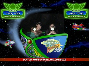 My sister totally OWNed me at Buzz's Astroblasters.