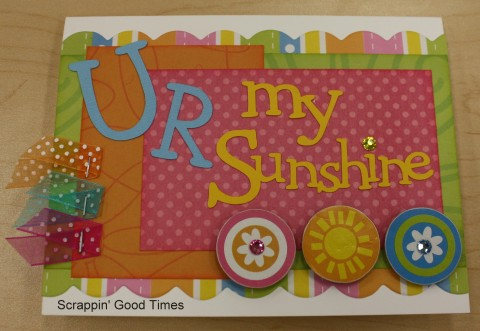 U R my sunshine card kit