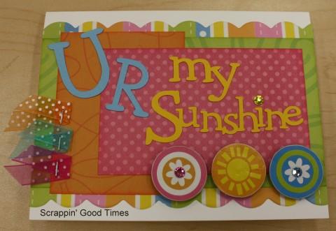 U R my sunshine card kit